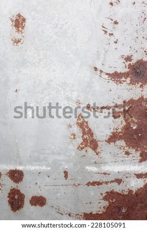 Rusty galvanized zinc background. - stock photo
