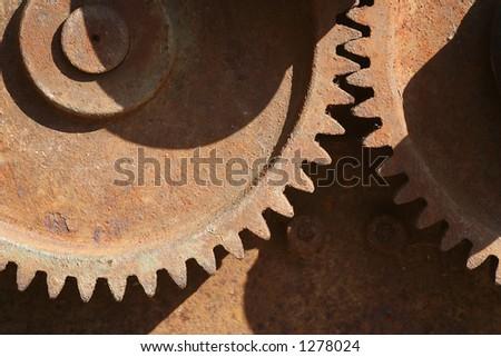 Rusty gear - stock photo
