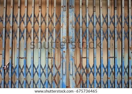 Rusty Grill Door