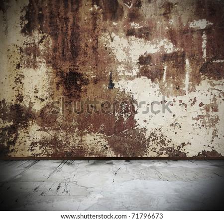 rusty grunge interior - stock photo