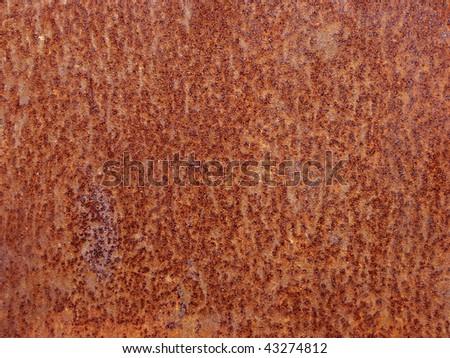 Rusty grunge metal background - stock photo