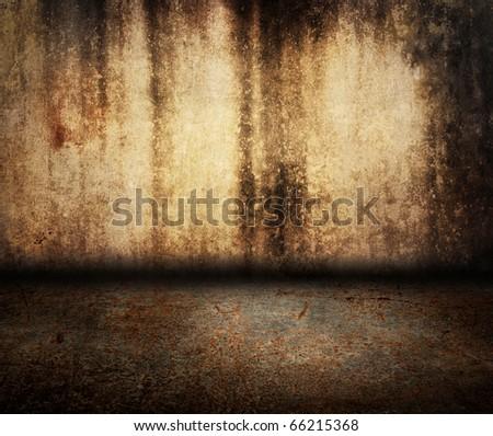 rusty grunge room - stock photo