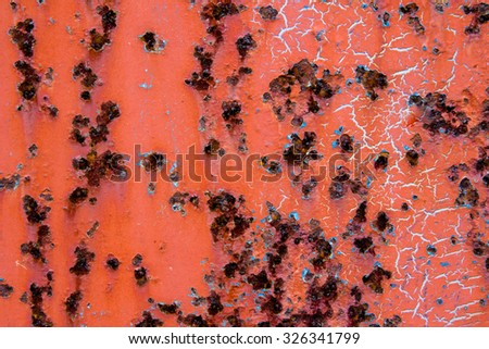 Rusty grunge steel iron paint  texture background - stock photo