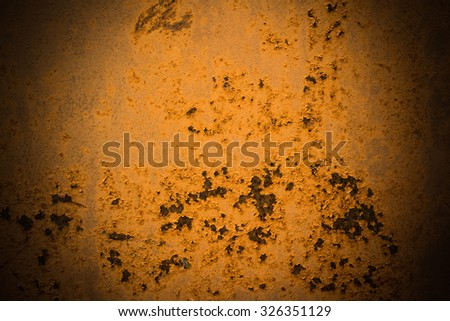 Rusty grunge steel iron paint  texture background and light ray - stock photo