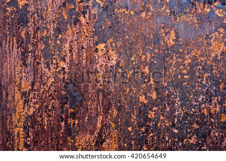 Rusty grunge texture.Old Rusty Metal Cracked Paint.wallpaper grunge background iron. - stock photo
