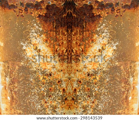 Rusty iron surface texture - stock photo