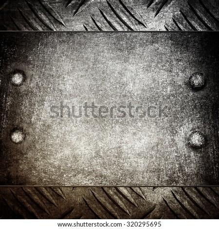 rusty iron template - stock photo