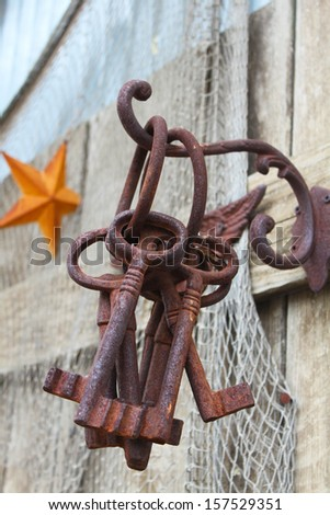 Rusty keys - stock photo
