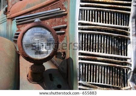 Rusty Mack Dump Truck - stock photo