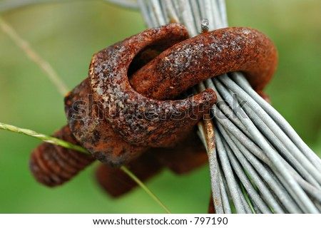 Rusty Metal and Wires - stock photo