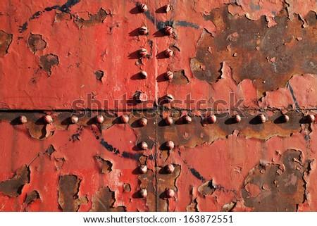 Rusty metal background - stock photo