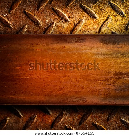 Rusty metal background. With copyspace for text