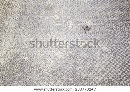 Rusty metal floor industrial building, surface - stock photo