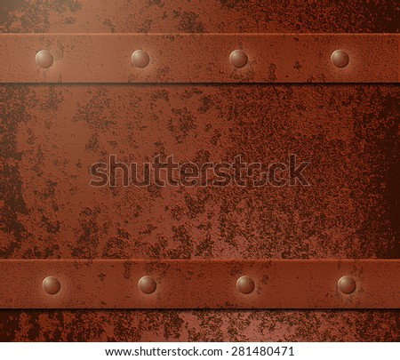 Rusty metal grunge background, illustration clip-art