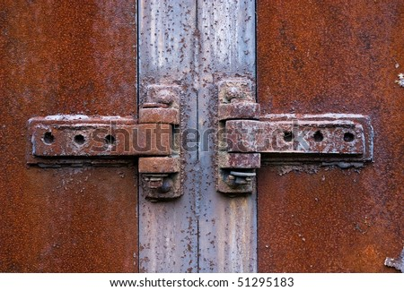 Rusty metal hinge