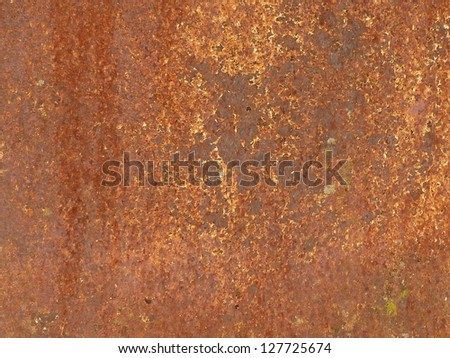 Rusty metal panel detail