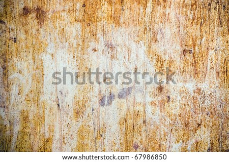 rusty metal plate grunge background - stock photo
