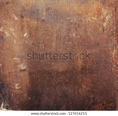 Rusty metal plate texture. - stock photo