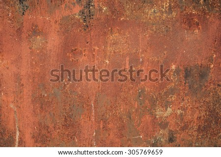 Rusty metal / Rusty and battered metal background - stock photo
