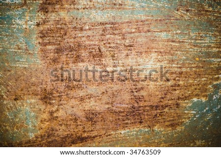 rusty metal surface / abstract dirty grunge background / - stock photo