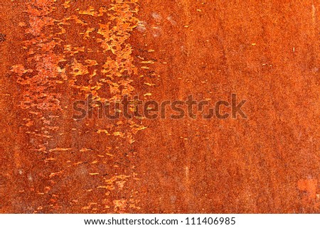 Rusty metal surface, may be used as background - stock photo