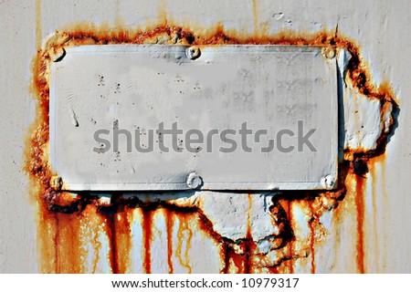 rusty metal tab - stock photo