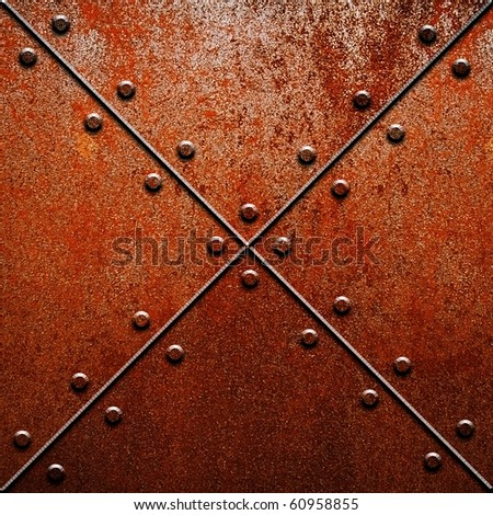 rusty metal tank - stock photo