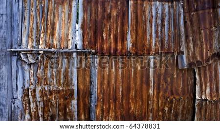 Rusty metal texture - stock photo