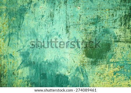 Rusty metal textured background with a light cracked paint - stock photo