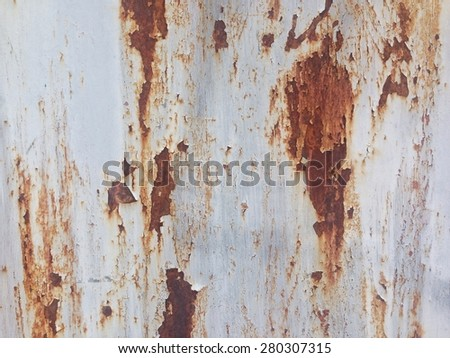 Rusty Metal Wall Texture Surface Background - stock photo