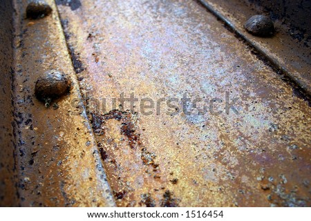 Rusty Metal with Bolt - stock photo