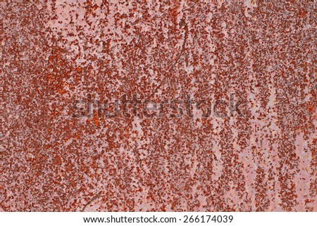 Rusty metal with cracked paint grunge background with space for text or image  - stock photo