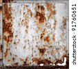 rusty metallic frame texture background - stock photo