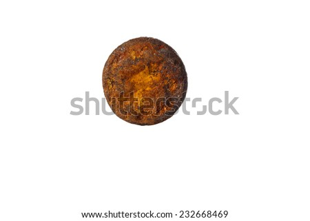 rusty nails isolated on white background - stock photo