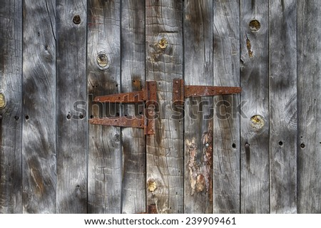 rusty old door hinge
