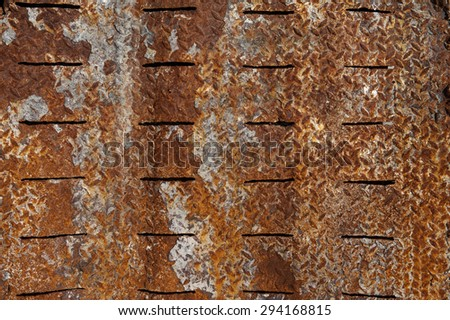 Rusty old iron sheet