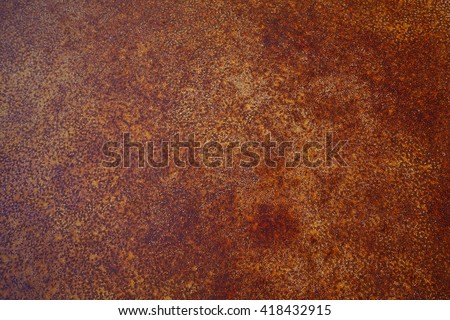 Rusty old metal sheet with abstract pattern - stock photo