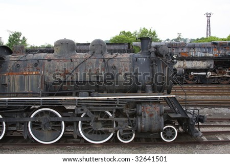 Rusty old trains - stock photo