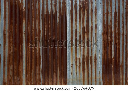 rusty old zinc texture and background - stock photo