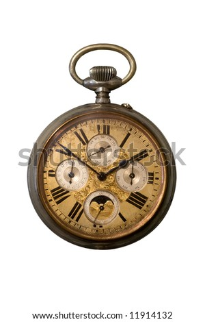 Rusty Pocket Watch - stock photo
