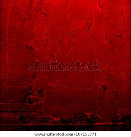 rusty red iron plate - stock photo