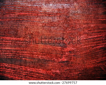 rusty red metal plate - stock photo