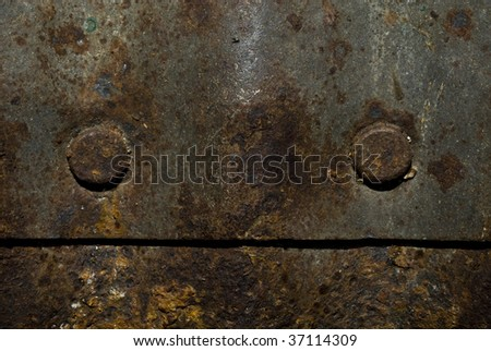 rusty rivets - stock photo