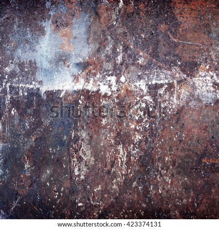 rusty scratched metal surface background - stock photo