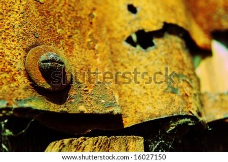 Rusty Screw - stock photo