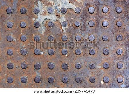Rusty steel background - stock photo