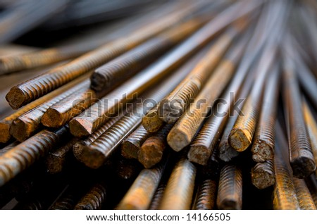 Rusty Steel building armature - stock photo