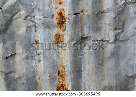 Rusty Steel Plate - stock photo