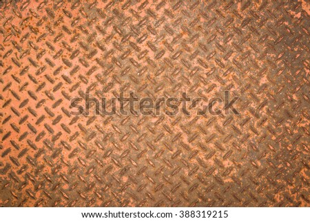 rusty steel plate texture background - stock photo