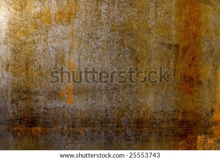 rusty steel sheet of metal - stock photo